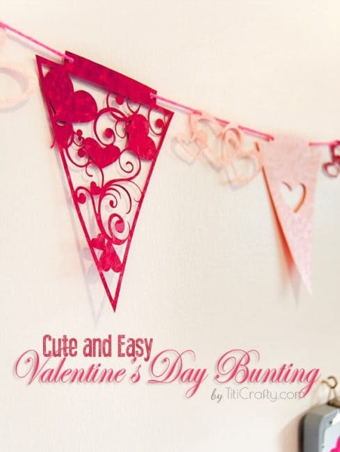 Cute and Easy Valentine's Day Buntings with Cutting Files #silhouetteproject #valentinesday #valentinesbuntings