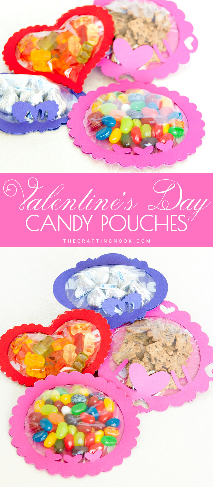 DIY Valentine's Day Candy Pouches (with Free Cutting Files)
