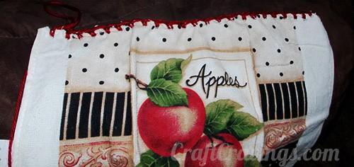 No Button Crochet Towel Topper (Pattern)