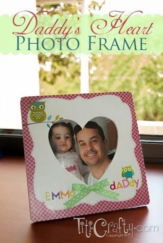 Father's Day Mod Podge Photo Frame