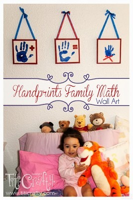 http://titicrafty.com/2013/06/handprints-family-math-wall-art/