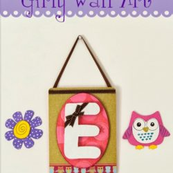 Mod Podge Monogrammed DIY Girly Wall Art #modpodge #monogramidea #modpodgeidea
