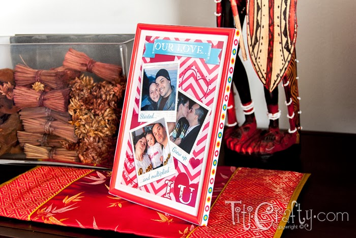Fun Valentine's Day Photo Frame with Free Printable