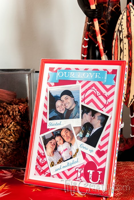 Easy Valentine's Day Photo Frame with Free Printable
