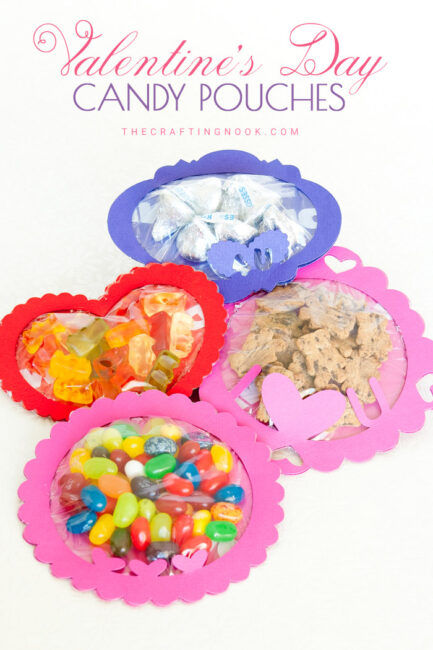 Valentine's Day Candy Pouches (with Free Cutting Files)
