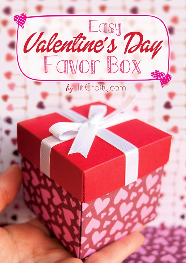 DIY Valentine's Day Favor Box Tutorials and #Printable #ValentinesDayGift #Valntinesdayfavorbox