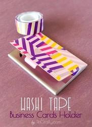 Washi Tape Business Cards Holder Tutorial #businesscardsholder #washitapecraft #washitapeproject