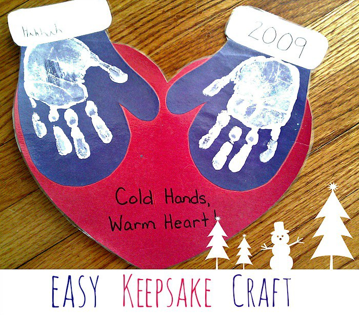 Easy to Make Handprint Winter Crafts for Kids