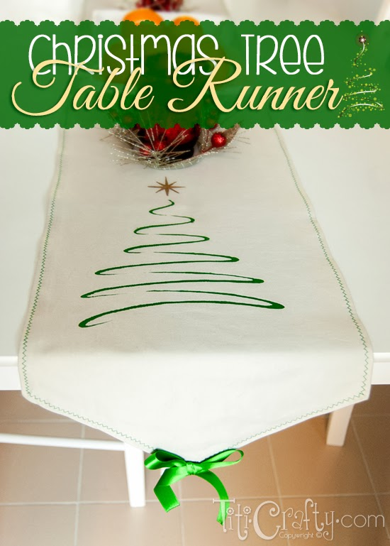 christmas tree table runner cut file