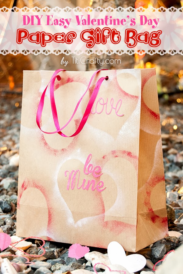 DIY Easy Valentine's Day Paper Gift Bag Tutorial