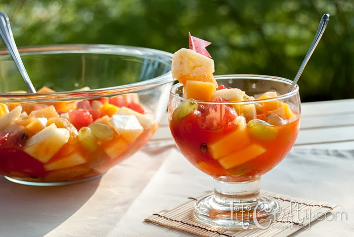 fruit display fruit punch bowl