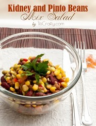 Kidney and Pinto Beans Mix Salad Recipe #summersalad #saladrecipe #summerrecipe