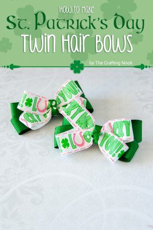 DIY St. Patrick's Day Twin Hair Bows