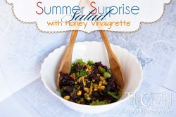 Summer Surprise Salad with Honey Vinaigrette #SummerSalad #Saladidea