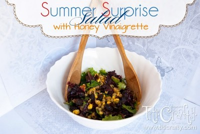 http://titicrafty.com/2013/07/summer-surprise-salad-with-honey-vinaigrette/