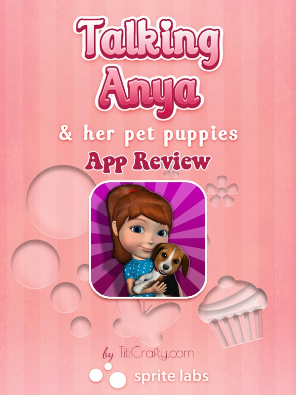Talking Anya Dress-up & Pet Puppies App Review. Your little one will LOVE it!