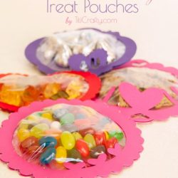 Valentine's Day Treat Pouches with Free Cutting Files