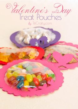 Valentine's Day Treat Pouches (with Free Cutting Files)
