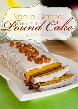Vanilla Glazed Carrot Cake Pound Cake #Recipe #carrotcake