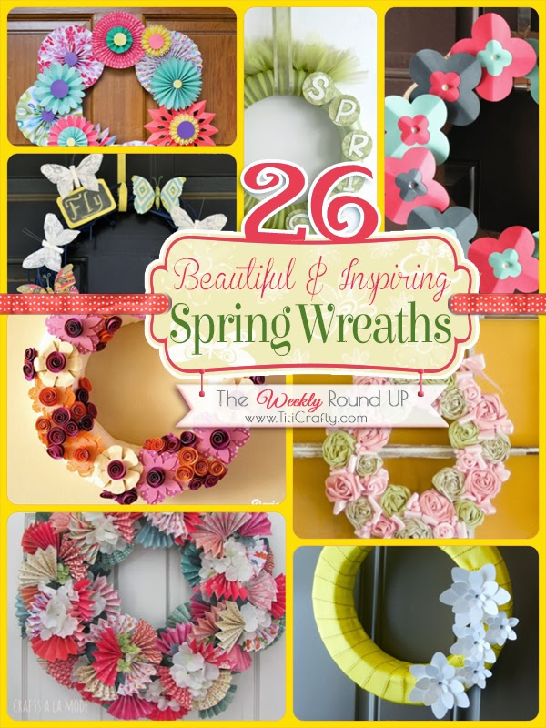 26 Beautiful and Inspiring Spring Wreaths. {The weekly Round Up}