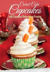 Carrot Cake Cupcakes with Cinnamon Buttercream Frosting #recipe #cupcakes #carrotcake