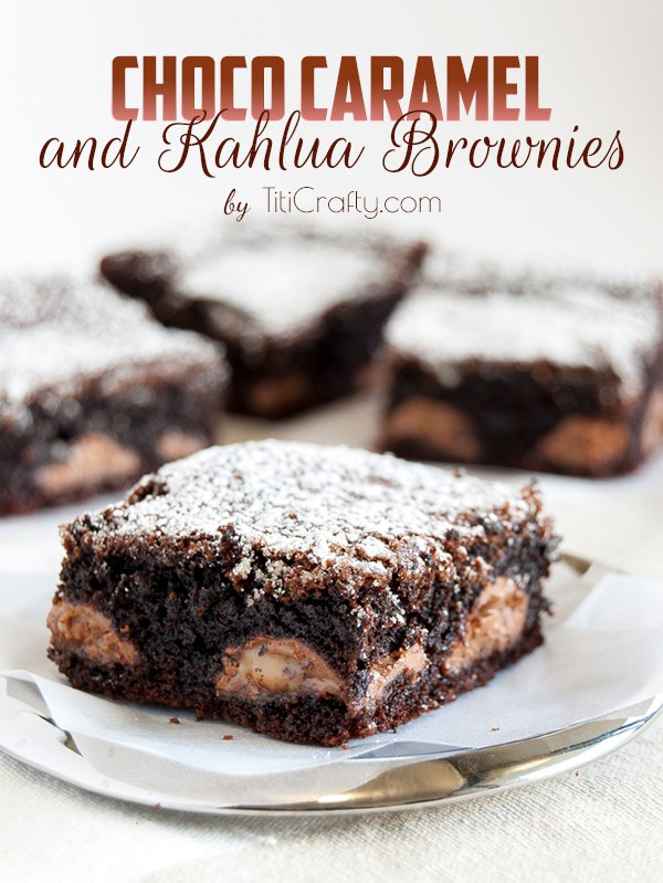 Chocolate and Caramel Kahlua Brownies Recipe
