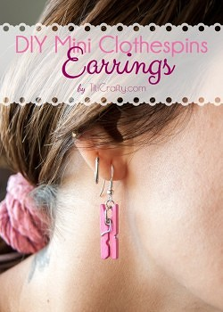 DIY Cute Mini Clothespins Earrings