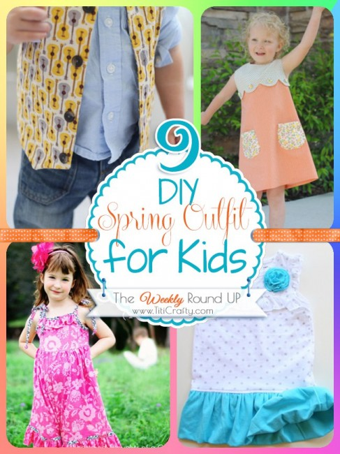 9 DIY Spring Outfits for Kids {The Weekly Round Up}