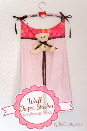 Wall Diaper Stacker. A nice touch for a baby room.
