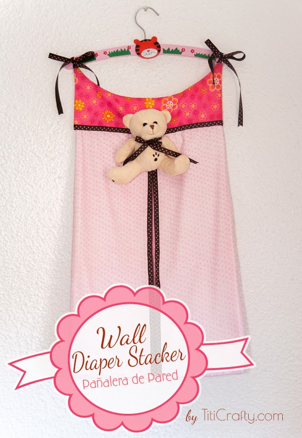 Wall Diaper Stacker A Nice Touch For A Baby Room The Crafting Nook