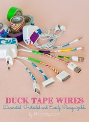 DIY Duck Tape Wires. Decorated, Protected and Easily Recognizable