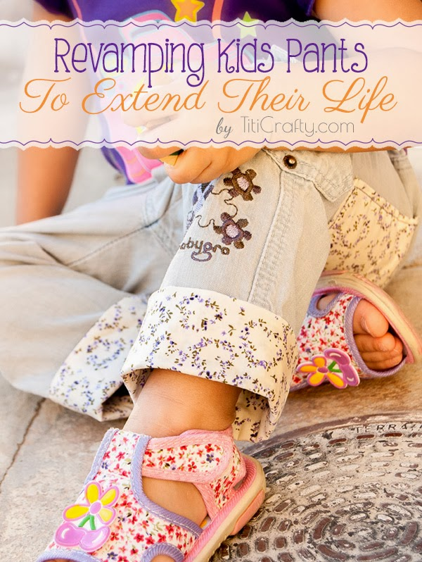 DIY Revamping Kids Pants to Extend Their Life