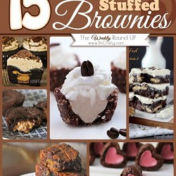 15 Decadent Stuffed Brownies {The Weekly Round Up}