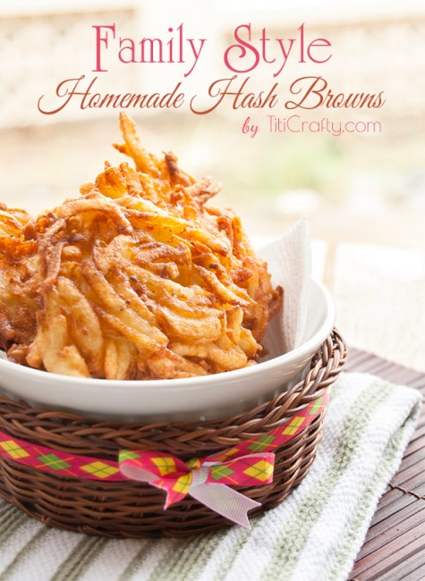 Family Style Homemade Hash Browns Recipe