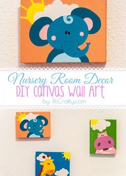Nursery Room Decor DIY Canvas Wall Art.