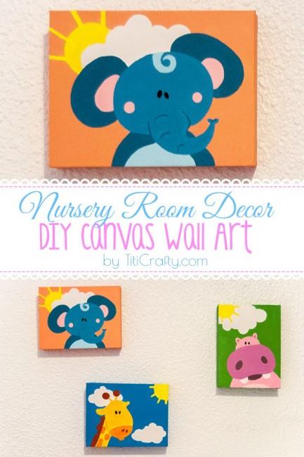 Nursery Room Décor. DIY Canvas Wall Art Tutorial