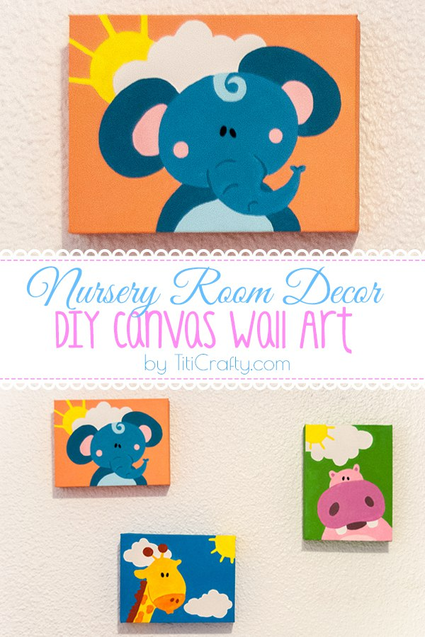 Nursery Room Decor. DIY Canvas Wall Art Tutorial