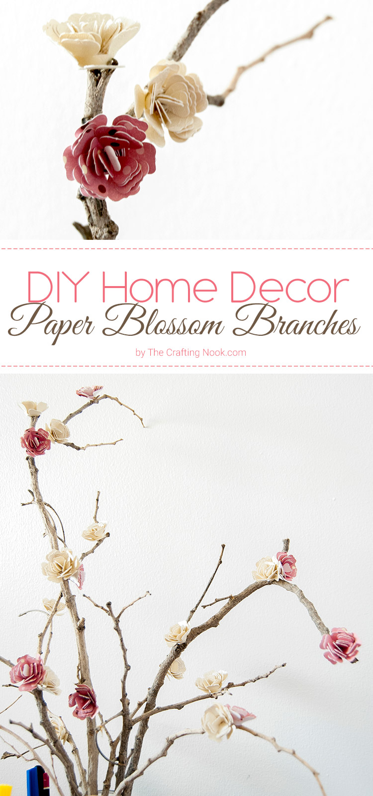 DIY Home Decor Paper Flowers Blossom Branches