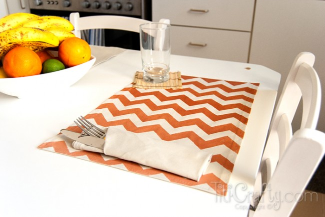 DIY-Ombre-Chevron-Placemats