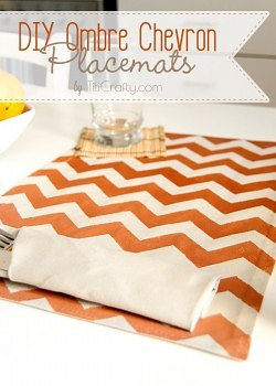 DIY Ombre Chevron Placemats
