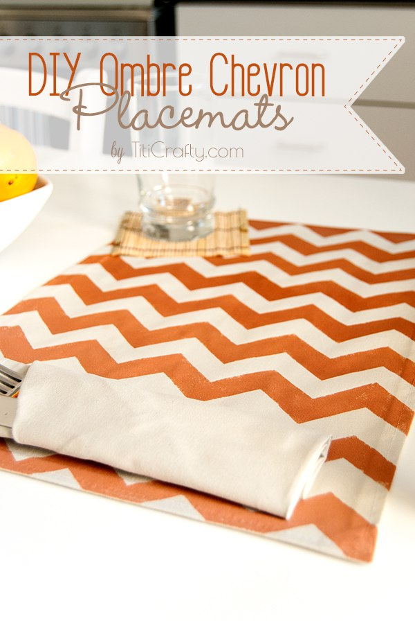 DIY Ombre Chevron Placemats Tutorial