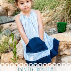 Pretty and Easy Pillowcase Dress with Pattern