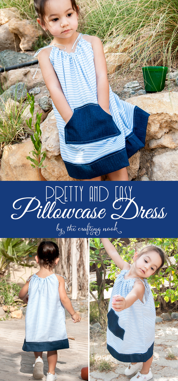 DIY Pretty and Easy Pillowcase Dress with Pattern