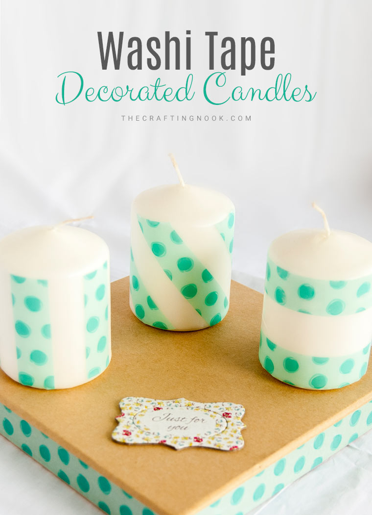 DIY Washi Tape Decorated Candles Easy Tutorial