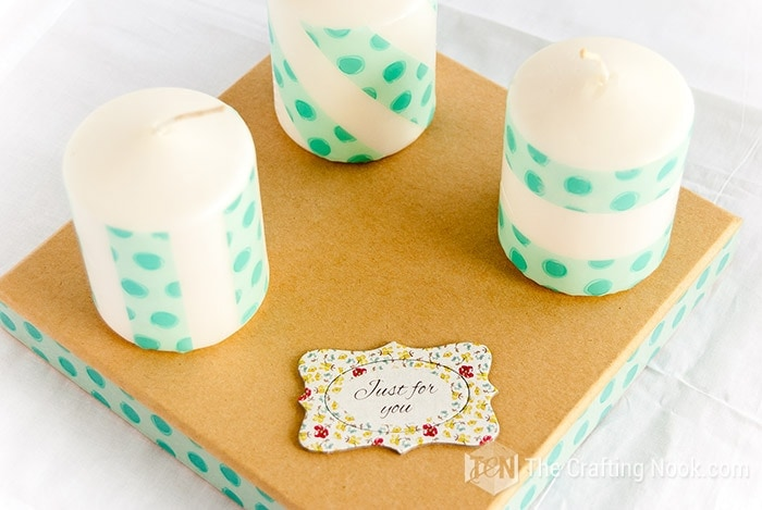 DIY Washi Tape Decorated Candles Just for you