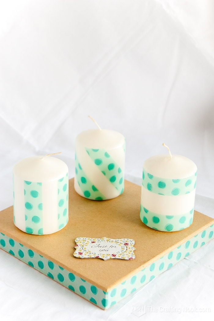 DIY Washi Tape Decorated Candles Tutorial