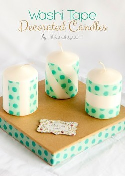 Washi Tape Decorated Candles. Lovely Mother's Day Gift.