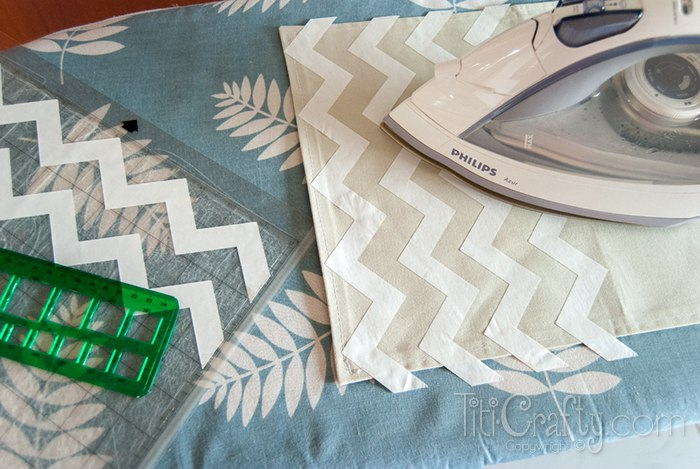 DIY Ombre Chevron Placemats - This Silly Girl's Kitchen