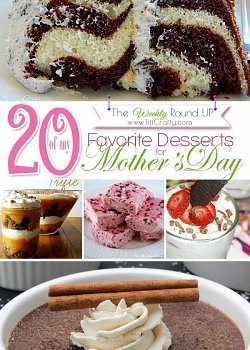 Favorite Desserts for Mother's Day. The Weekly Round up!