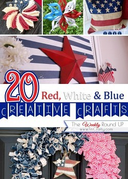 20 Red, White & Blue Patriotic Crafts {Weekly Round Up}